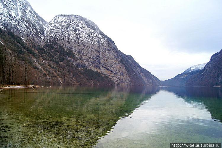 Расположение озера среди