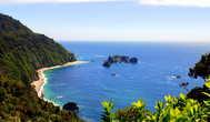 Вид на Тасманское море с площадки Knights Point