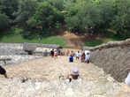 Спуск с Акрополя в Археологической зоне Эк-Балам.