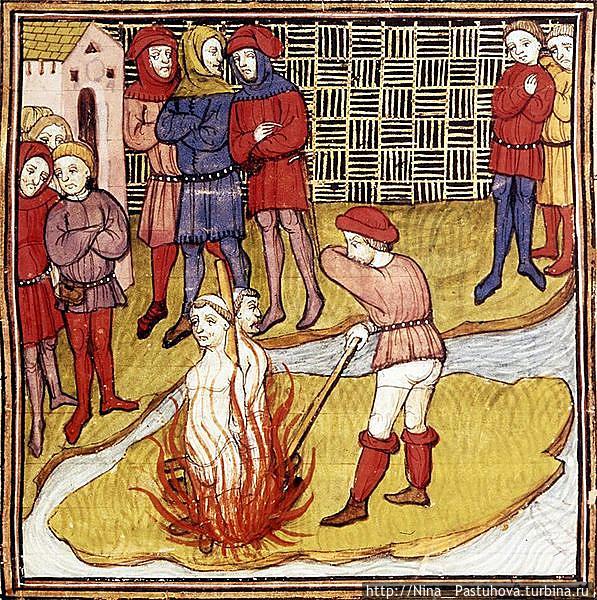 Сожжение тамплиеров.