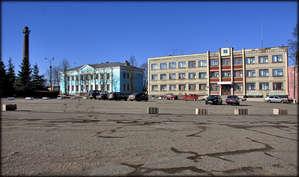 Исторический центр Невеля площадь Карла Маркса, бывшая Торговая или Красная.