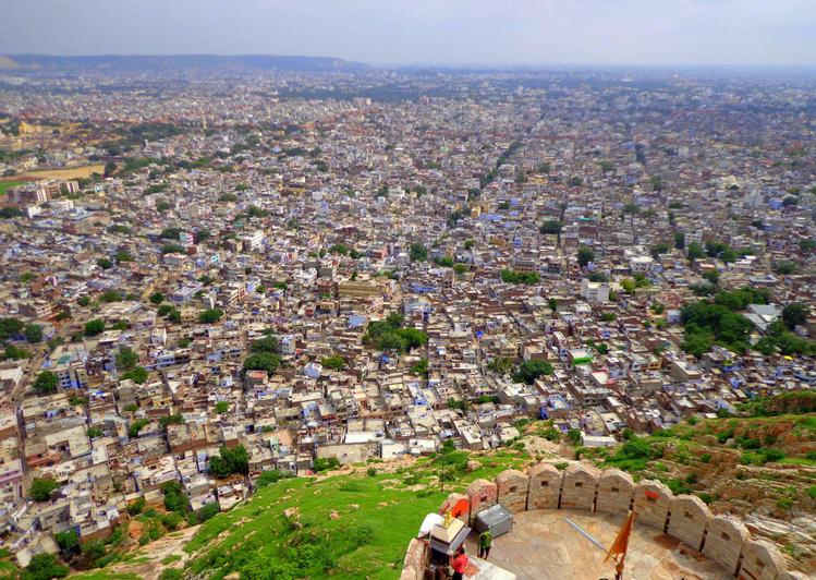 Вид на Джайпур с форта На