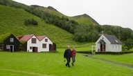 Дома и церковь исландской деревни