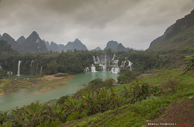 Самый большой водопад Азии, видео, фото