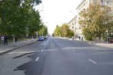 Отсюда начинается этот прямой отрезок улицы Московская