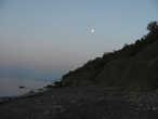 Под утро Луна была уже на западе и в обычном своем виде.