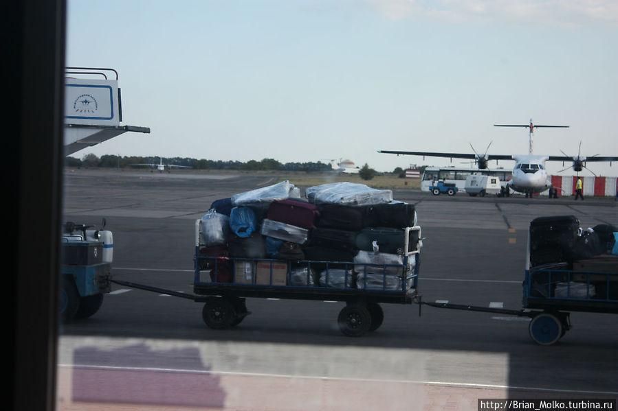 Наш багаж везут