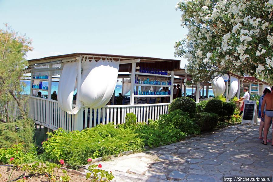 популярный конечно павильон-терраса на берегу моря