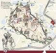 Схема маршрута, по которому проходит шествие детей во время праздника Киндерцехе.