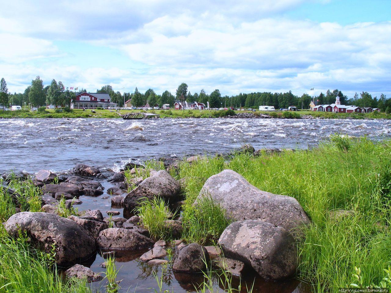 Вид с финского берега на