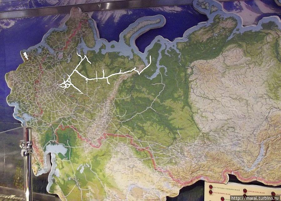 Северная железная дорога на карте Родины