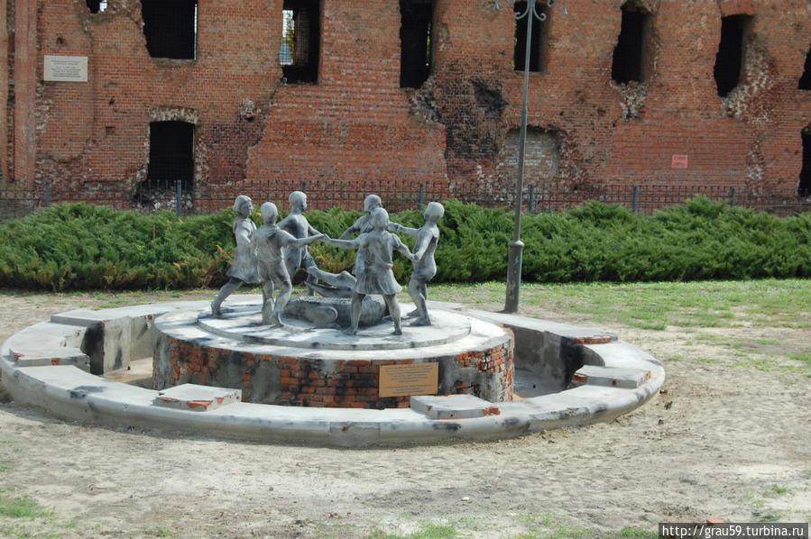 Фонтан возле развалин мельницы Гергардта
