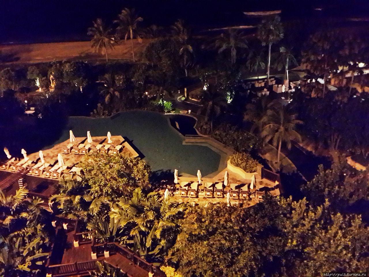 Вид на взрослый бассейн из корпуса 2