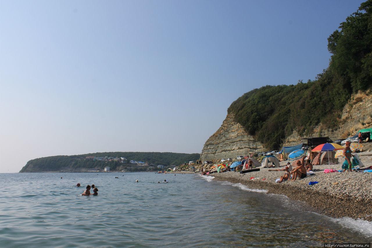 Новомихайловский фото пляжа и города 2018