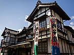А вот и Утико-дза, местный театр кабуки. Не такой крутой, как Канамару-дза в Котохире, но всё равно впечатляет.