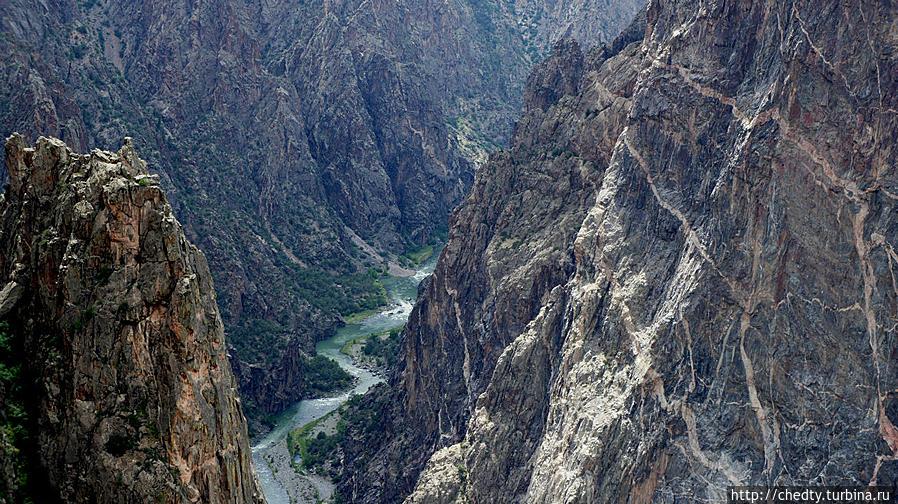 Черный Каньон, Колорадо. Магматические породы. Моаб, CША