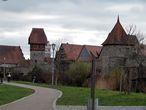 Городские укрепления. Вид на Висельную и Крестьянскую башни (16 век)