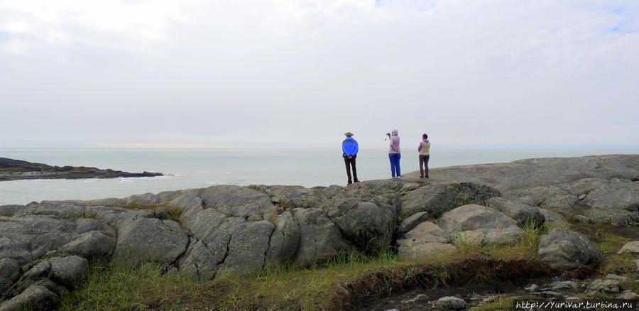 На берегу северной Атлантики пустынно Хёфн, Исландия