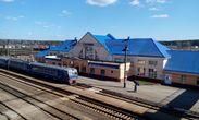 Вокзал города Столбцы. В межвоенное время пограничная станция
