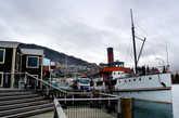Исторический пароход Earnslaw у причала