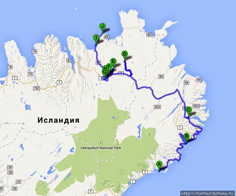 Карта маршрута 5-7 дней п