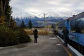 Вид на Южные Альпы со станции Спрингфилд