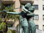 Тамино и Памина. Фонтан Моцарта или Фонтан Волшебная Флейта