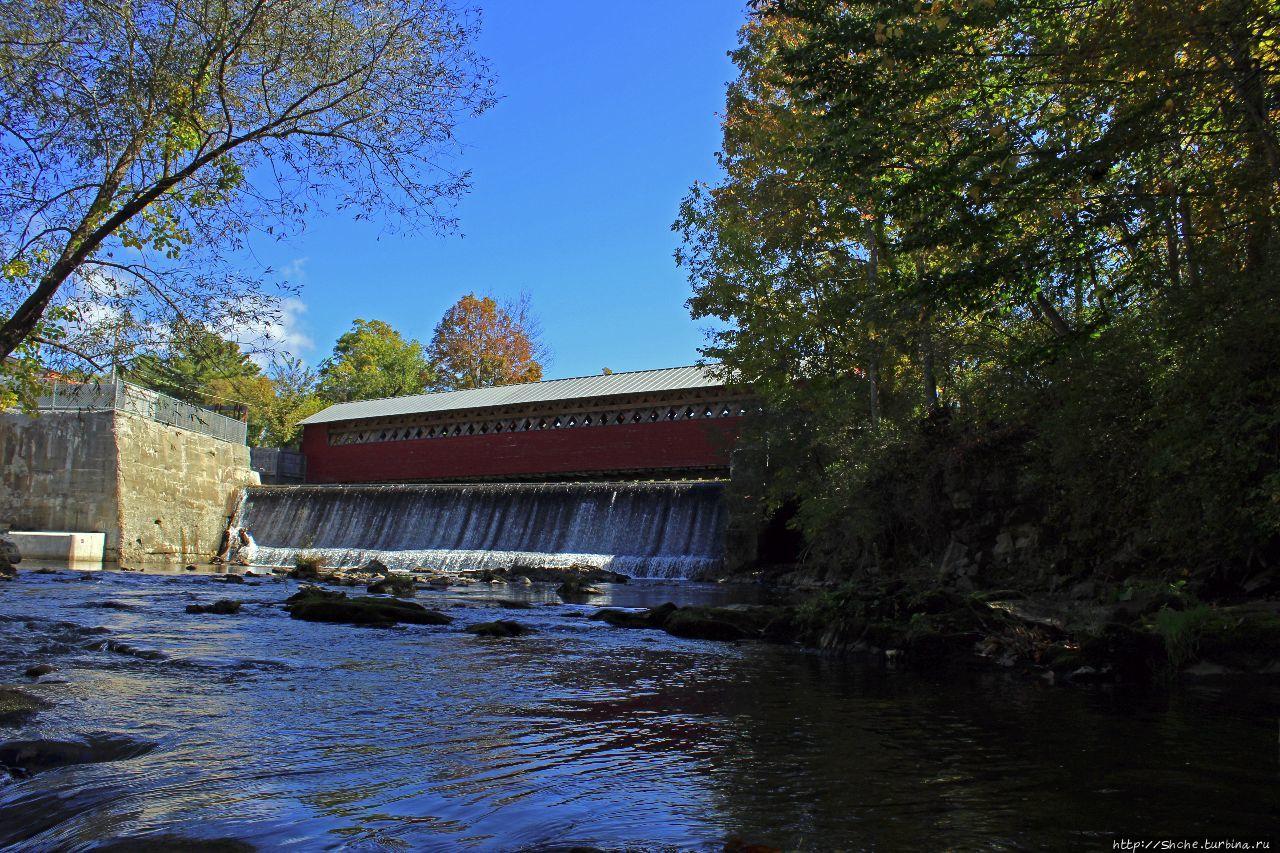 В гостях у Радуги. Крытые мосты Вермонта.  Paper Mill Bridge