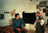 Наш гид Мохаммед (или Ахмед?) в жилище берберской женщины