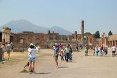 Вид на Везувий из Помпеи