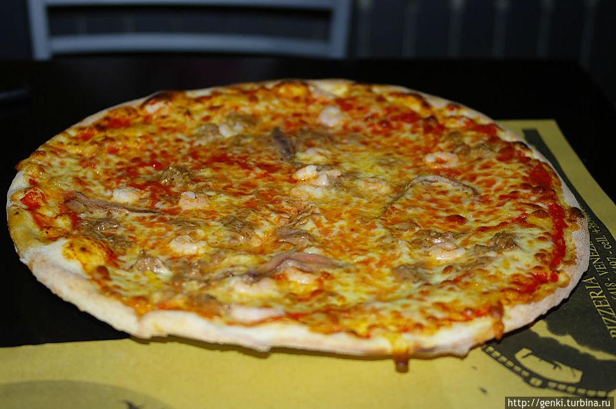 Классическая, итальянская пицца.