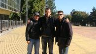 С друзьями в парке Щербакова