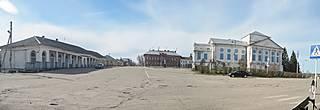 Вид Торговой площади от санатория.