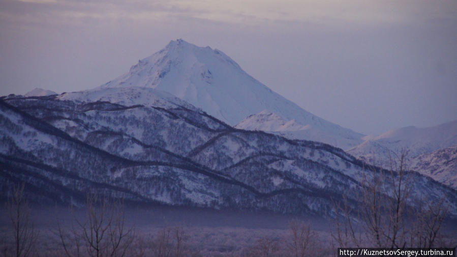 Вилючинский вулкан из Паратунки