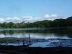 Рядом с храмом расположен большой пруд