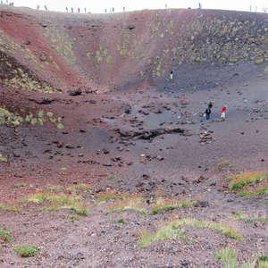 на дне кратера