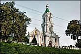 Надвратная колокольня Богоявленского монастыря в стиле позднего барокко.