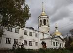 В парке расположен Свято-Никольский храм, построенный в 1795-1800 г.г. на средства графа А.С. Строганова. В 1929 году церковь была закрыта, сначала в ней размещался клуб, а затем — краеведческий музей.