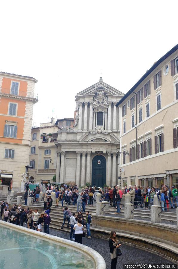 Площадь Треви Рим, Италия
