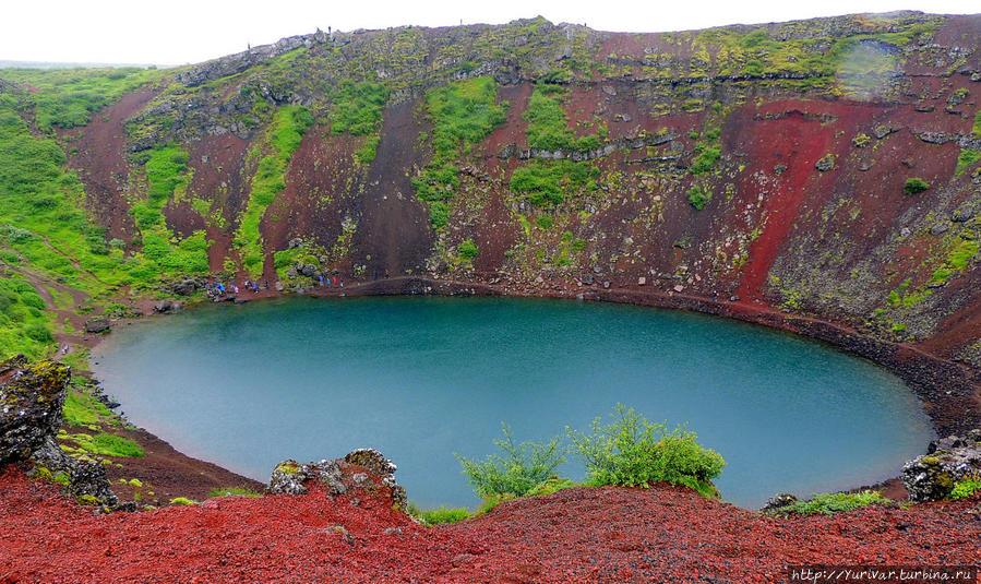 Кратерное озеро Керид Исландия