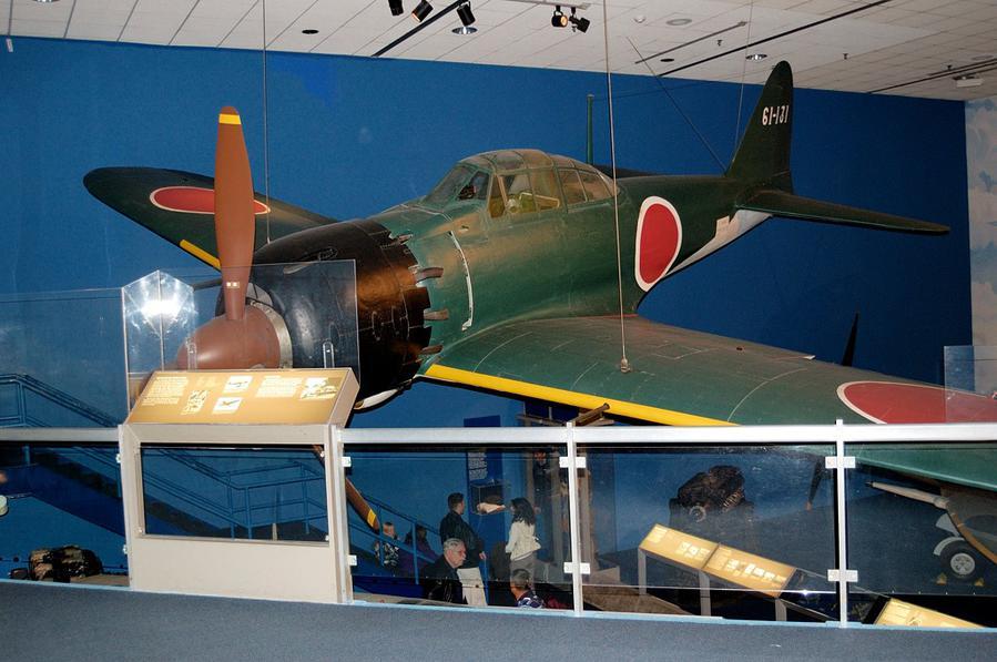 Экспозиция, посвященная Второй Мировой Войне. Знаменитый японский истребитель Мицубиси