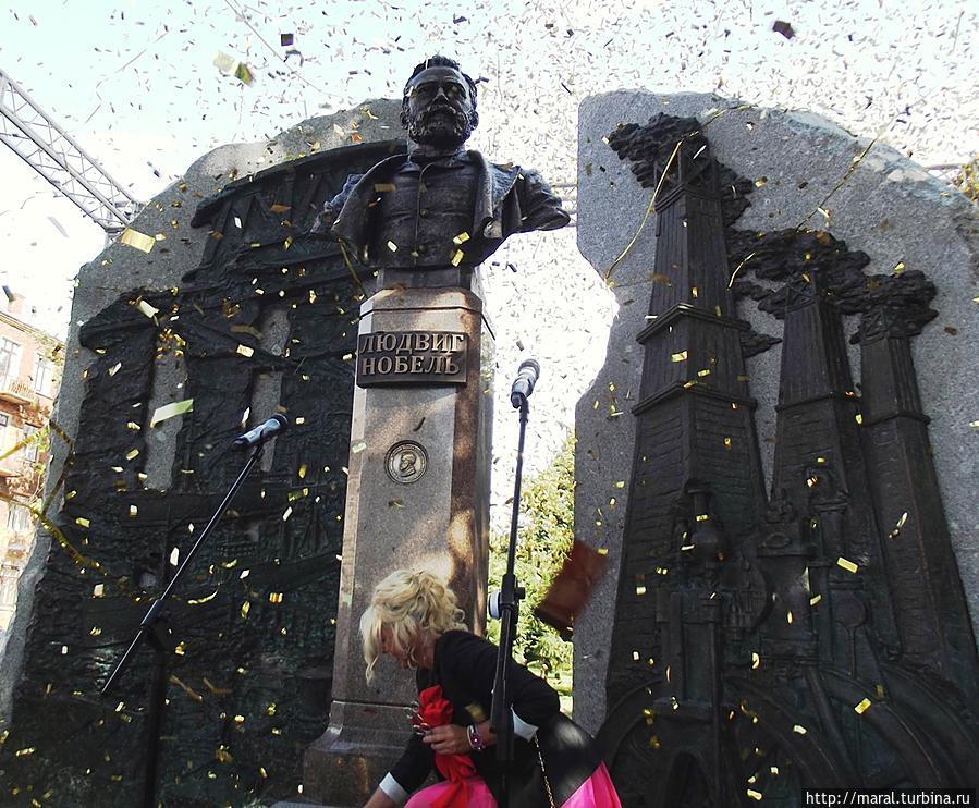 Открытие памятника Людвигу Нобелю в Рыбинске