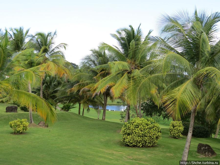 вид на море с террасы Лукильо, Пуэрто-Рико