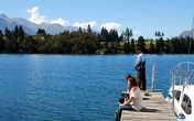 На озере хорошая рыбалка