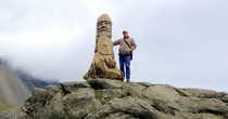 Монумент викингам на мысе Стокснес