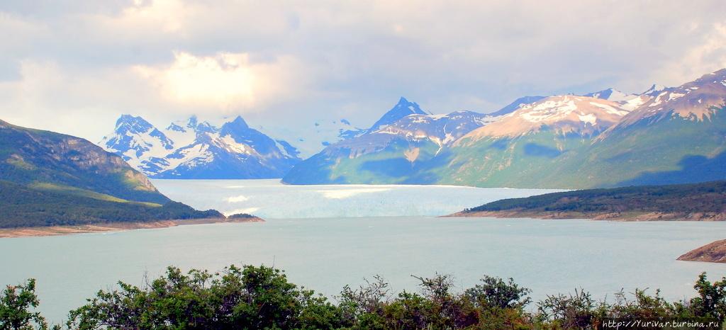 Ледник Перито Морено в Патагонии Лос-Гласьярес Национальный парк, Аргентина