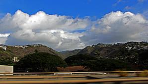 Первые пейзажи Оаху сразу после выезда из Гонолулу