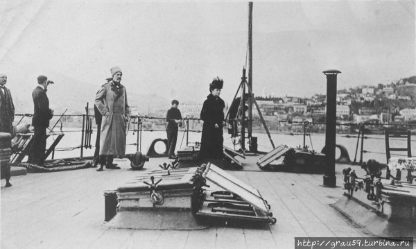 Мария Федоровна на крейсере
