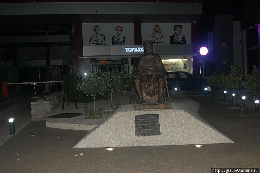 Памятник в ночи
