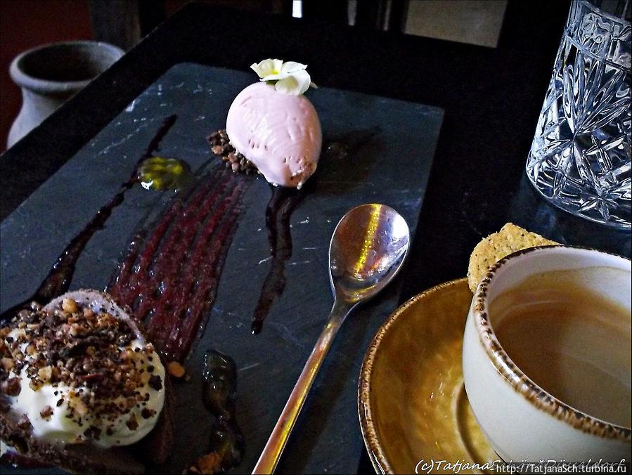 Десерты — шедевры — высокохудожественное сладкое блюдо стоит 6,50 евро